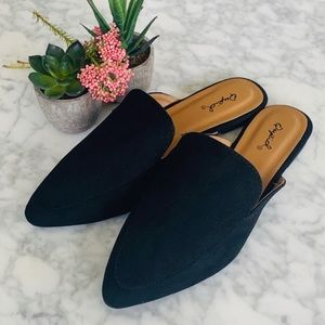 Shoes - LAST 3 Pairs! Best Seller Vegan Suede Mule Flats